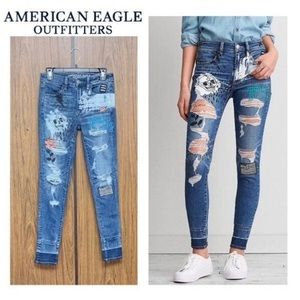 AE deep ground Hi-Rise jegging